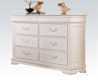 Picture of Classique White Finish 6 Drawer Dresser