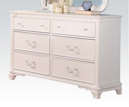 Picture of Ira Two Tone Youth 6 Drawer Dresser in White Finish
