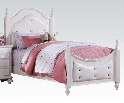 Picture of Athena White Finish Twin Size Bed