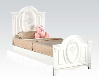 Picture of Flora White Finish Full Size Panel Bed