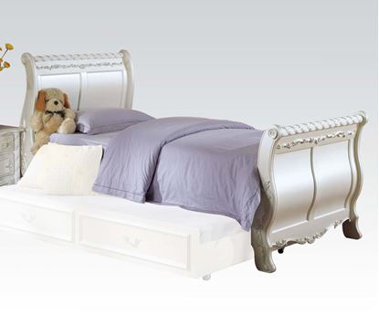 Picture of Pearl White Finish Wood Youth Full Sleigh Bed
