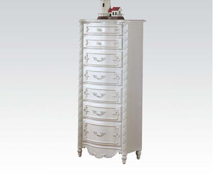 Picture of Pearl White Finish Wood Chest