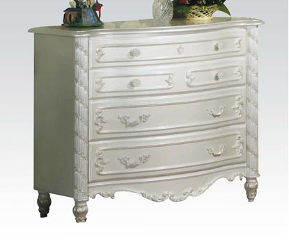 Picture of Pearl White Finish Wood Drawer Dresser