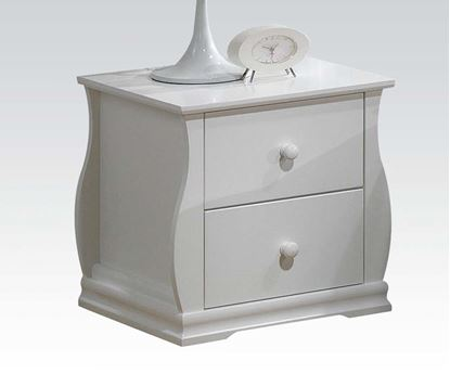 Picture of Nebo White Wave Shaped 2 Drawersl Nightstand