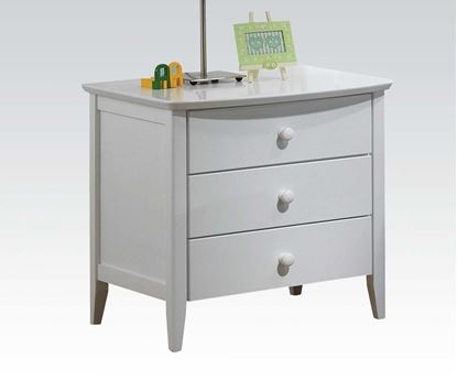 Picture of San Marino Transitional Nightstand in White finish