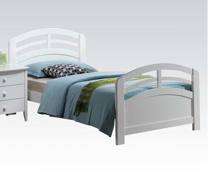 Picture of San Marino Transitional Youth Twin Bed in White finish
