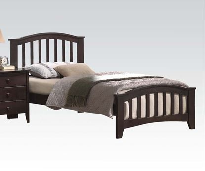 Picture of San Marino Transitional Walnut Finish Full Size Bed