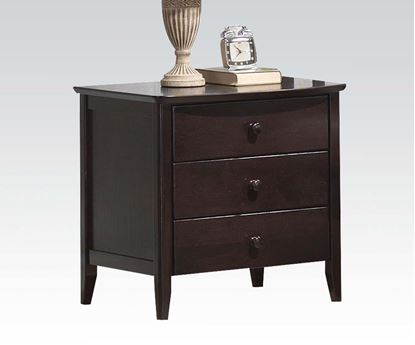 Picture of San Marino Transitional Walnut Finish Wood Kids Night Stand