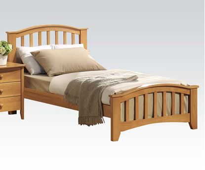 Picture of San Marino Transitional Full Size Bed in Maple Finish