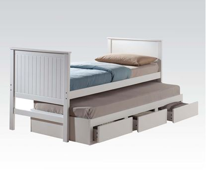 Picture of Bungalow White Finish Youth Captain Full Bed