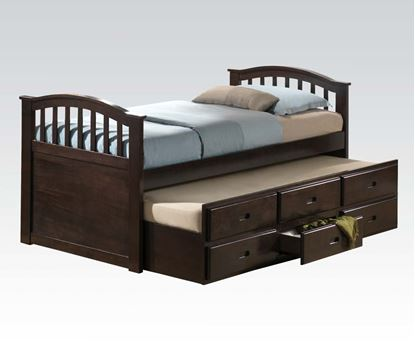 Picture of San Marino Dark Walnut Storage Full Captain Bed with Trundle F