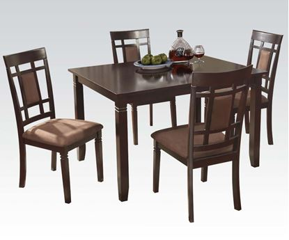 Picture of 5pc Pack Dining Set in Espresso and Chocolate MFB