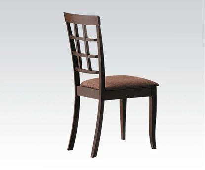 Picture of Espresso Finish Upholstery 2 Pcs. Dining Side Chair    (Set of 2)