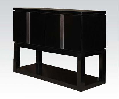 Picture of Modern Black 2 Door Server with Shelf