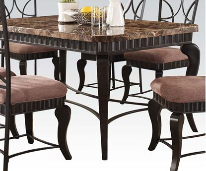Picture of Galiana Transitional Brown Marble Top Dining Table