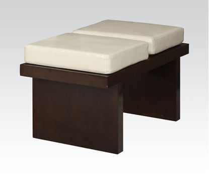 Picture of Keelin Collection Espresso Finish / Beige PU Bench