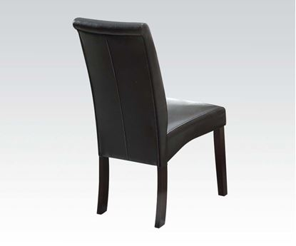Picture of 2 pcs. Espresso Bycast PU Side Chair    (Set of 2)