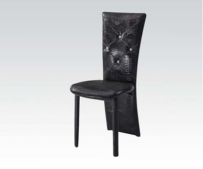 Picture of Contemporary 6 Pcs. PU Chair in Black Color  (Set of 6)