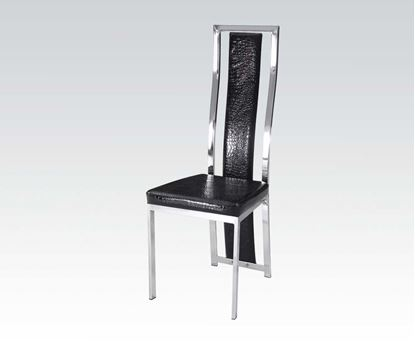 Picture of 6 Pcs. PU Chair with Black PU and Chrome  (Set of 6)