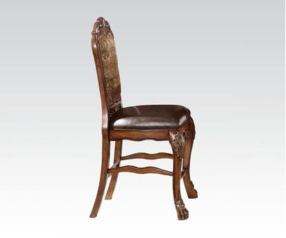 Picture of Dresden Classics Warm Antique Brown Finish 2pc Counter Height Chair  (Set of 2)