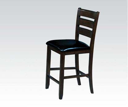 Picture of 2 Pcs. Espresso Counter Height Chair  (Set of 2)