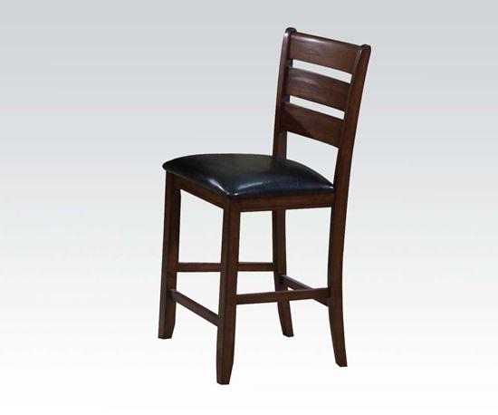 Picture of Urbana Cherry Ladder Back 2Pcs. Counter Height Chairs    (Set of 2)
