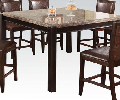 Picture of Modern Emparedora Gray Marble Top Counter Height Table