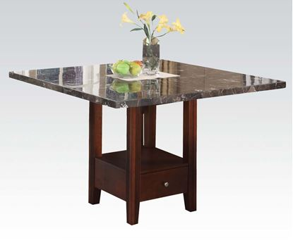 Picture of Danville Modern Marble Top Counter Height Table