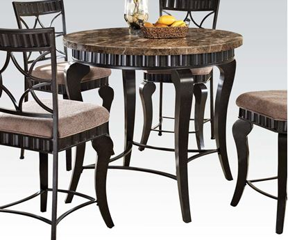 Picture of Galiana Brown Marble Top Counter Height Table