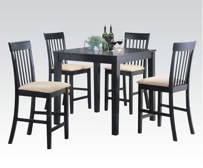 Picture of 5PCs. Pack Contemporary Espresso  Counter Height Table Set