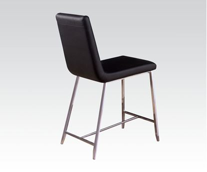 Picture of Modern Black Chrome Counter Height Chair Set of 2  (Set of 4)