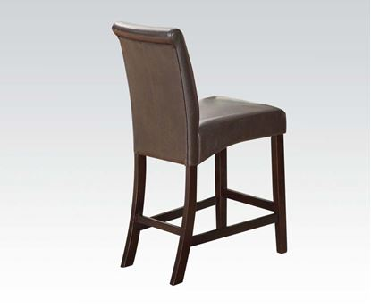 Picture of Counter Height Chair in Espresso Bycast PU Finish Set of 2    (Set of 2)