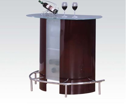 Picture of Modern Wine Chrome Bar Table