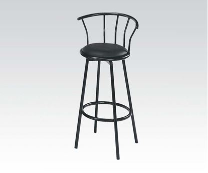 Picture of Cucina Black Finish 2 Pcs. Swivel Bar Chairs by    (Set of 2)