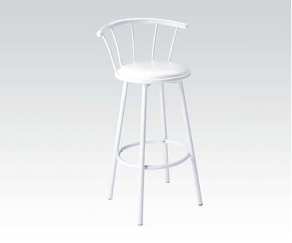 Picture of Cucina White Finish 2 Pcs. Swivel Bar Chair by    (Set of 2)