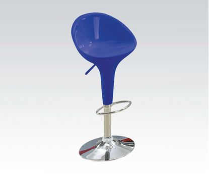 Picture of Sybil Modern Blue Finish Adjustable Air Lift Stool Set  (Set of 2)
