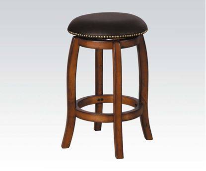 "Picture of Chelsea  Oak Finish 24""H Seat Height Swivel Stool"