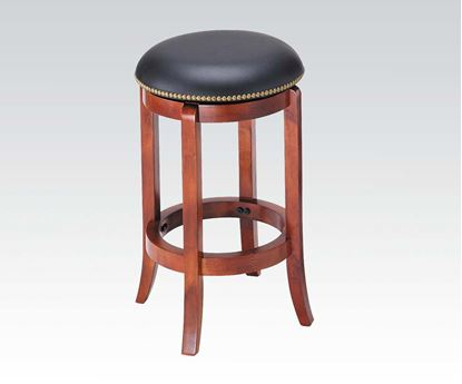 "Picture of Cherry Finish Swivel Bar Stool 24"" Seat Height"