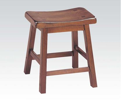 "Picture of Contemporary Walnut Finish 18"" seat height solid wood stool    (Set of 2)"