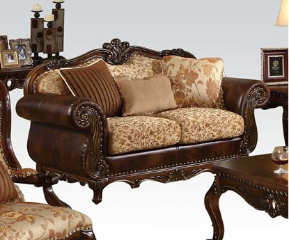 Picture of Remington Bonded Leather & Fabric Loveseat