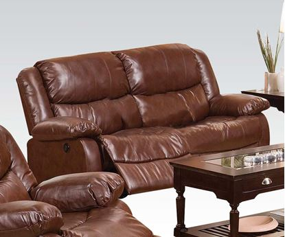 Picture of Contemporary Fullerton Power Motion Brown Loveseat