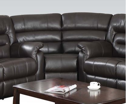 Picture of Modern Dark Brown Bonded Leather Motion Chair by  50842