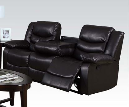 Picture of Torrance Motion Espresso Bonded Leather Match Sofa