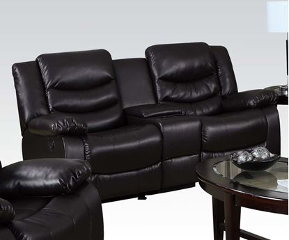 Picture of Torrance Motion Espresso Bonded Leather Match Loveseat
