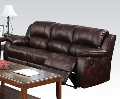 Picture of Zanthe Brown Microfiber Power Motion Sofa
