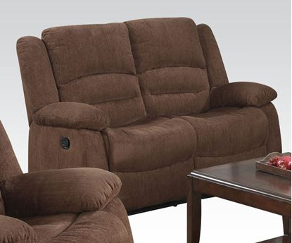 Picture of Bailey Dark Brown Chenille Motion Loveseat