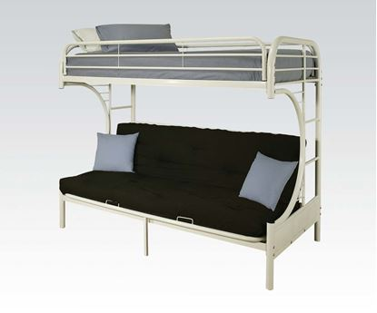 """Picture of """"C"""" T/F/Futon Metal Bunkbed, Rd, Bu, Wh, Bk"""