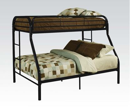 "Picture of 2"" Tube Black Twin Over Full Metal Bunk Bed"