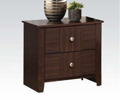 Picture of Contemporary Racie Dark Merlot Night Stand