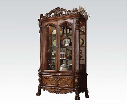 Picture of Dresden Classics Warm Antique Brown Finish Counter Height Curios